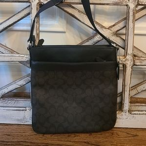 Coach Black and Brown Leather Crossbody